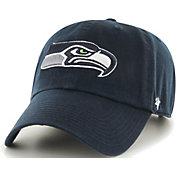 '47 Men's Seattle Seahawks Navy Clean Up Adjustable Hat