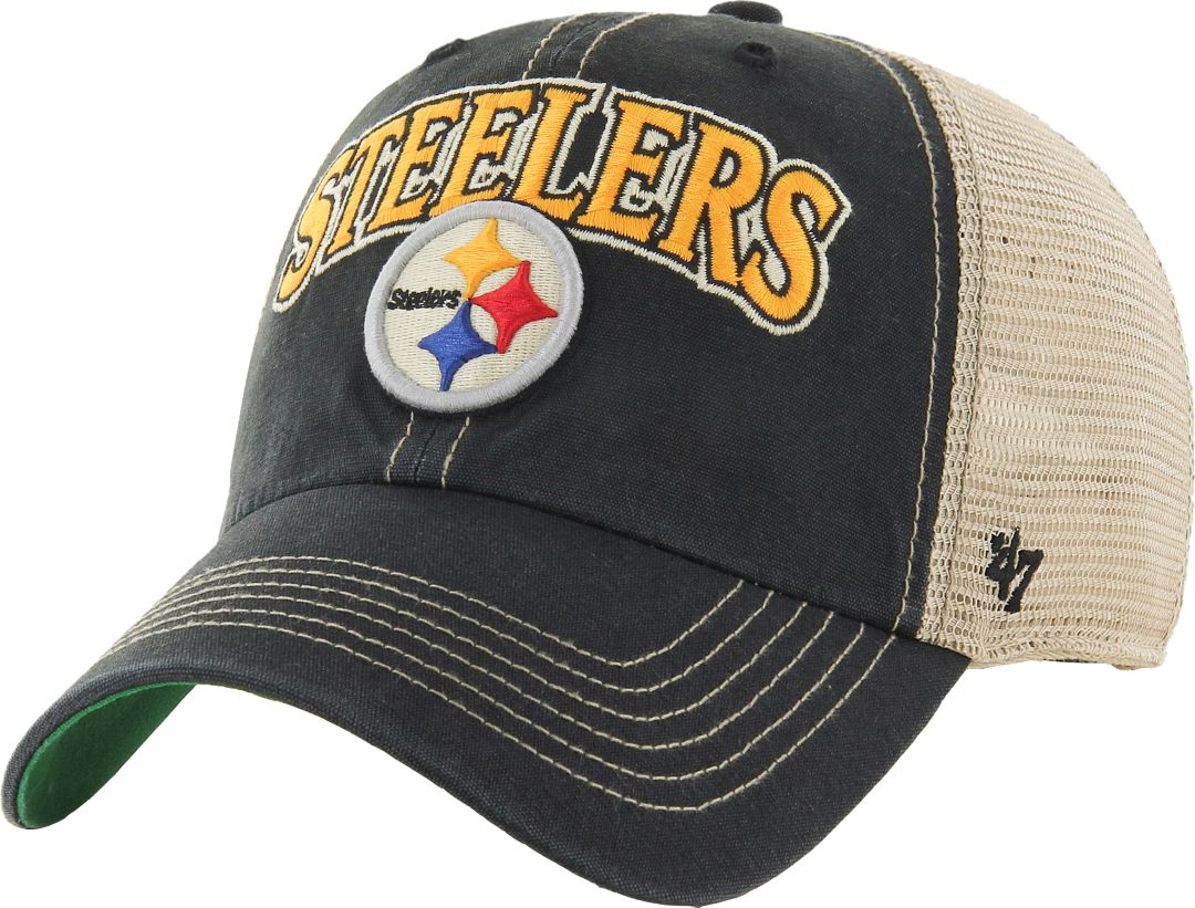 50596345 '47 Men's Pittsburgh Steelers Vintage Tuscaloosa Black Adjustable Hat