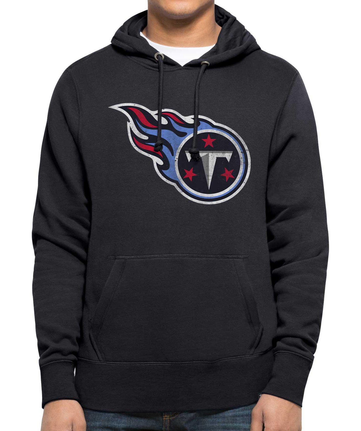 '47 Men's Tennessee Titans MVP Headline Pullover Navy Hoodie