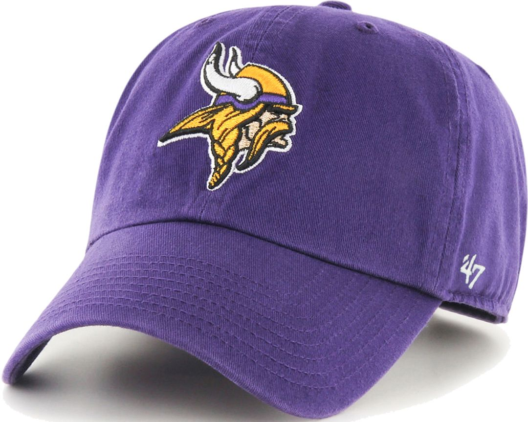 1cabb89d '47 Men's Minnesota Vikings Purple Clean Up Adjustable Hat