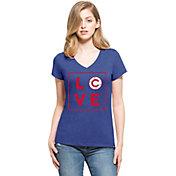 '47 Women's Chicago Cubs Club Royal V-Neck T-Shirt