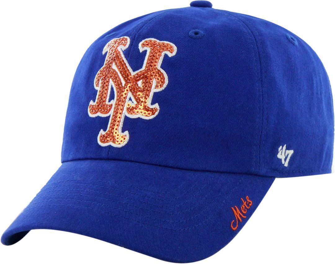 8e9385cd0 '47 Women's New York Mets Sparkle Royal Adjustable Hat