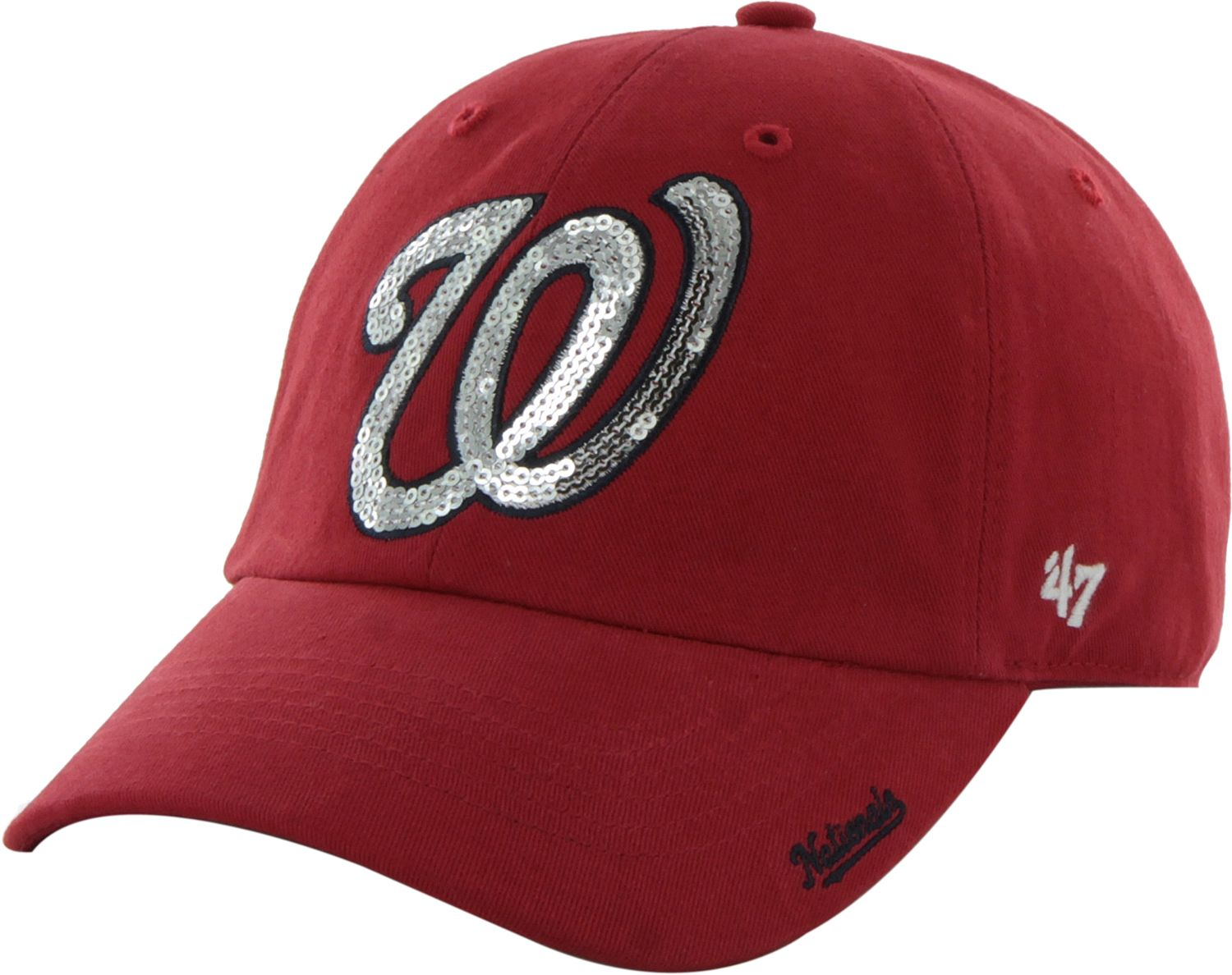 1bb725e2227 best price 47 womens washington nationals sparkle red adjustable hat ee192  e82e0
