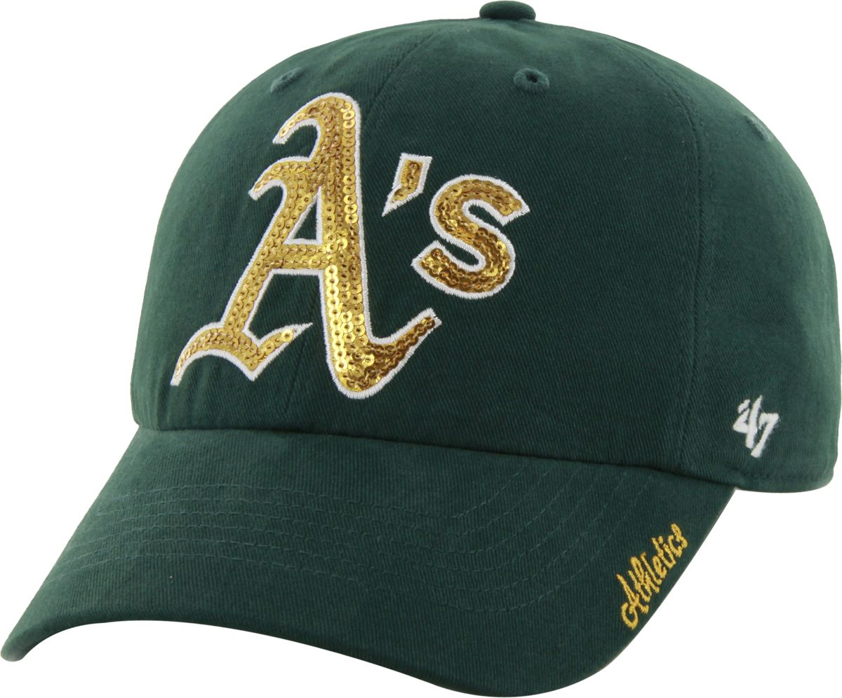 5c47c25428b ... ebay 47 womens oakland athletics sparkle green adjustable hat dd1db  24232