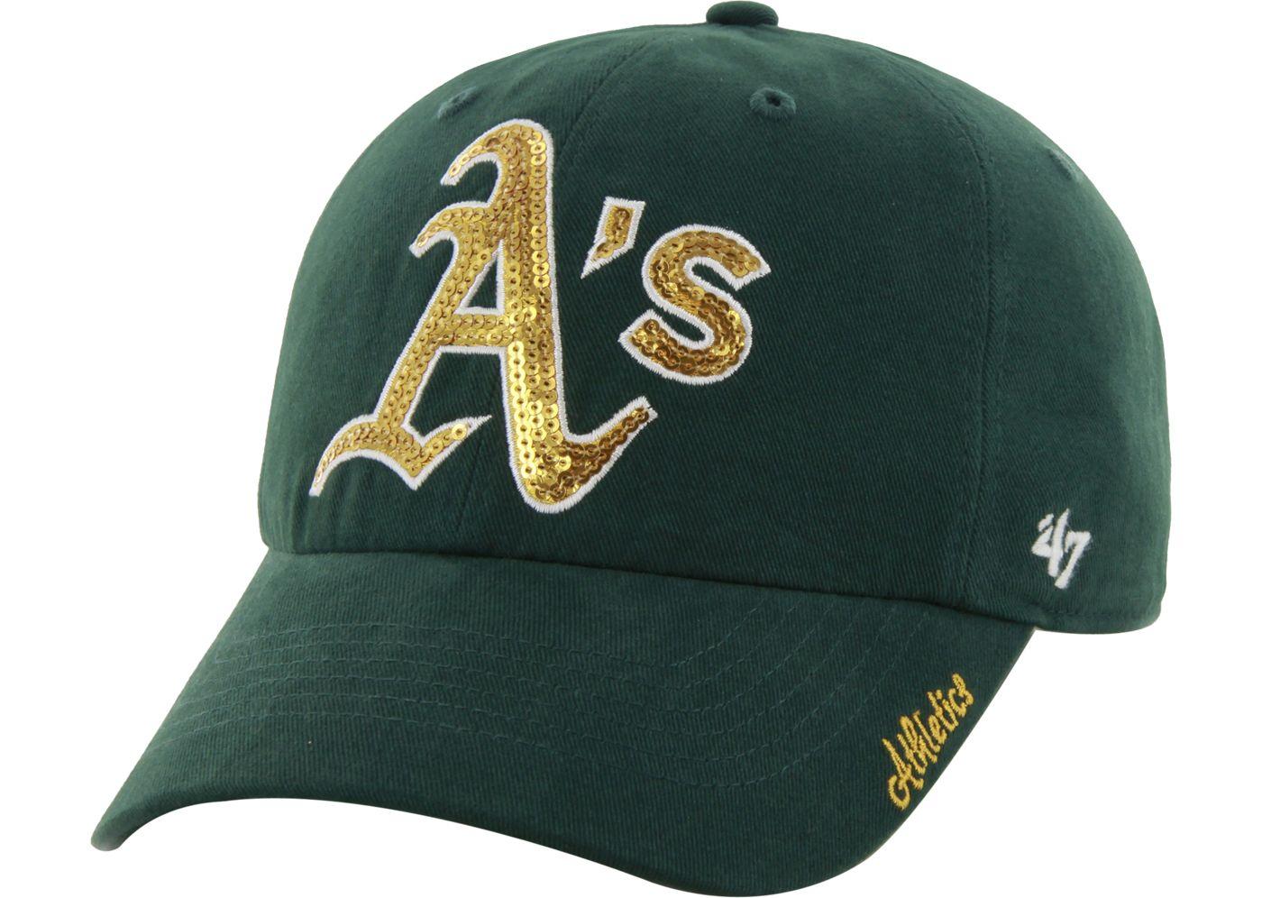 '47 Women's Oakland Athletics Sparkle Green Adjustable Hat