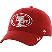 '47 Women's San Francisco 49ers Sparkle Logo Red Adjustable Hat