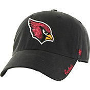 '47 Women's Arizona Cardinals Sparkle Logo Black Adjustable Hat