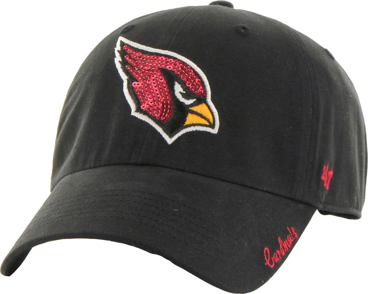 '47 Women's Arizona Cardinals Sparkle Logo Black Adjustable Hat