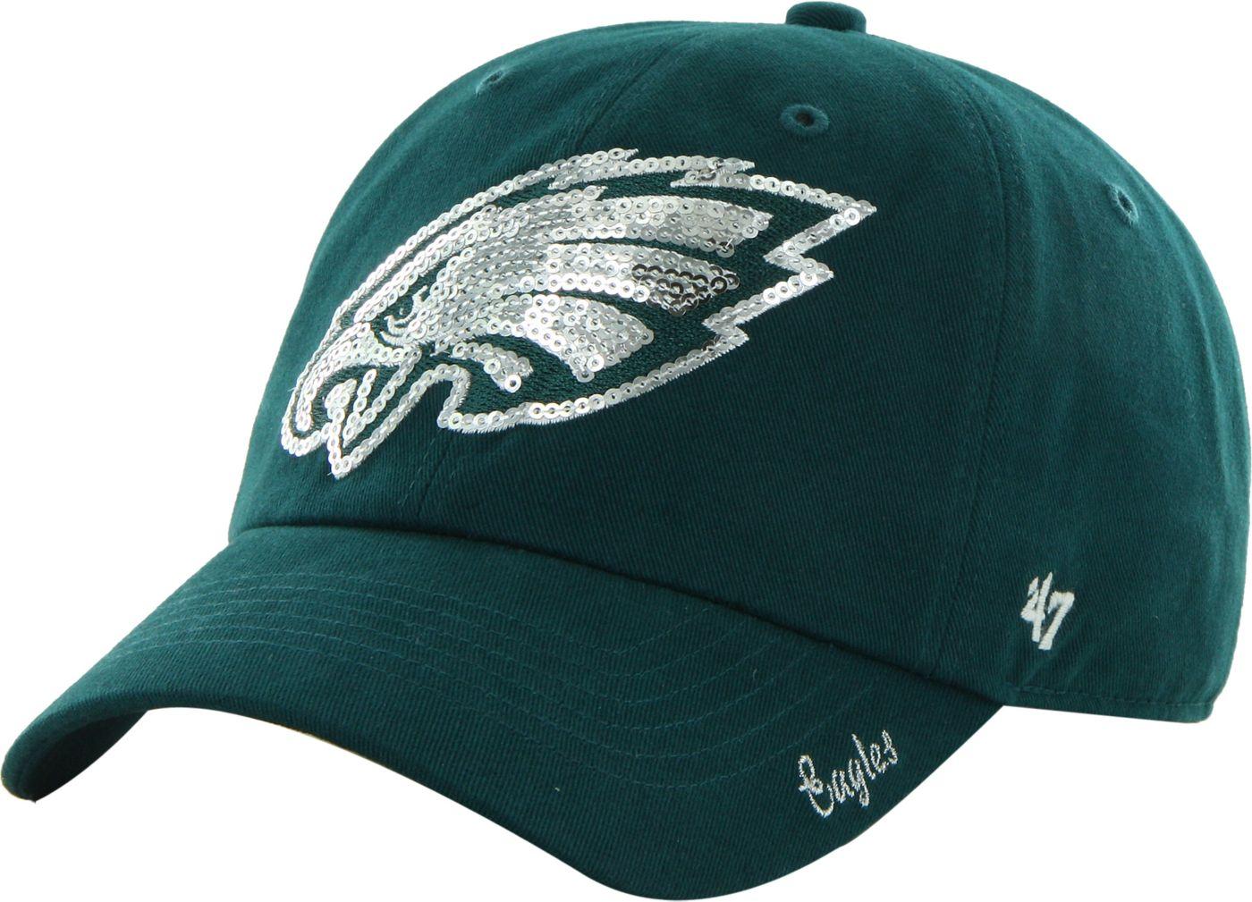 '47 Women's Philadelphia Eagles Sparkle Adjustable Green Hat
