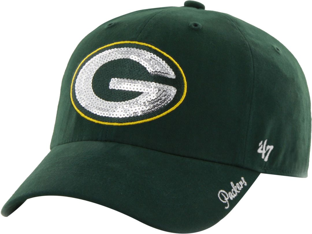 f5714f3c '47 Women's Green Bay Packers Sparkle Adjustable Green Hat
