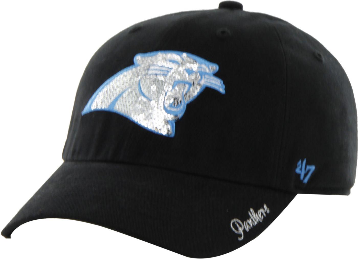 '47 Women's Carolina Panthers Sparkle Adjustable Black Hat