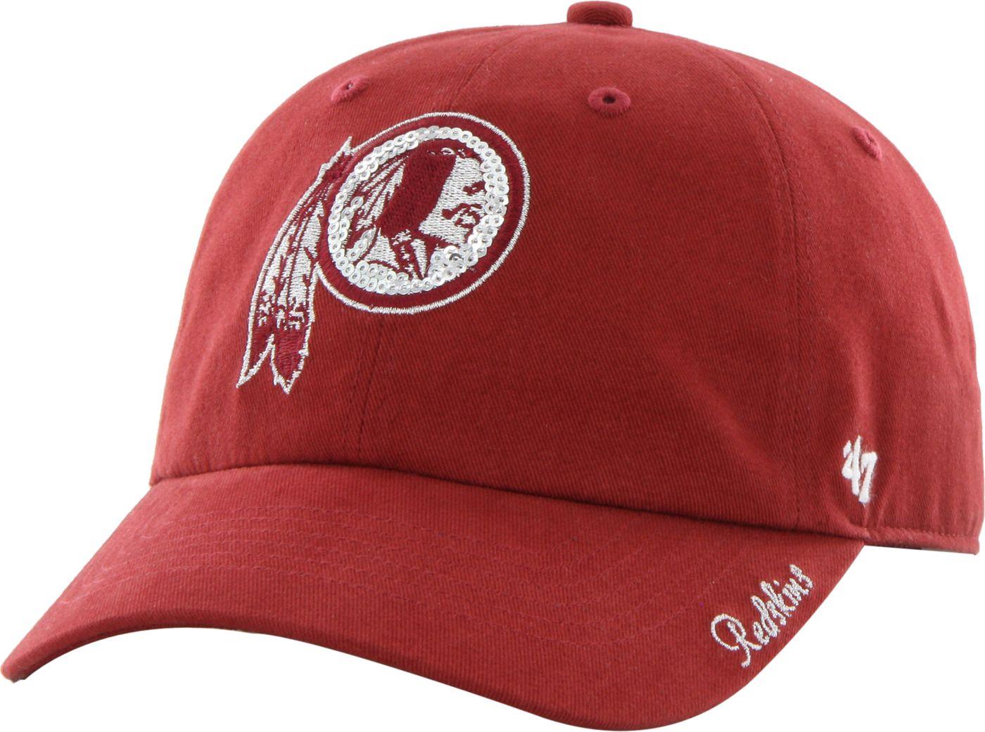 '47 Women's Washington Redskins Sparkle Logo Red Adjustable Hat