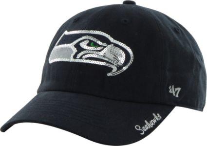 80ddd5e9 '47 Women's Seattle Seahawks Sparkle Adjustable Navy Hat
