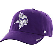 '47 Women's Minnesota Vikings Sparkle Logo Anthracite Adjustable Hat