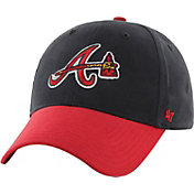 '47 Youth Atlanta Braves Short Stack MVP Navy/Red Adjustable Hat