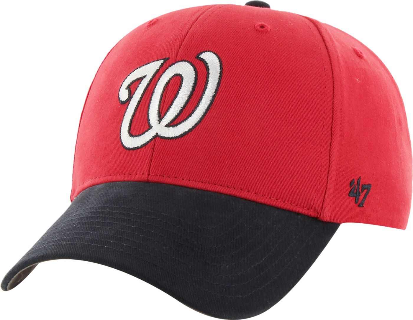 '47 Youth Washington Nationals Short Stack MVP Red/Navy Adjustable Hat
