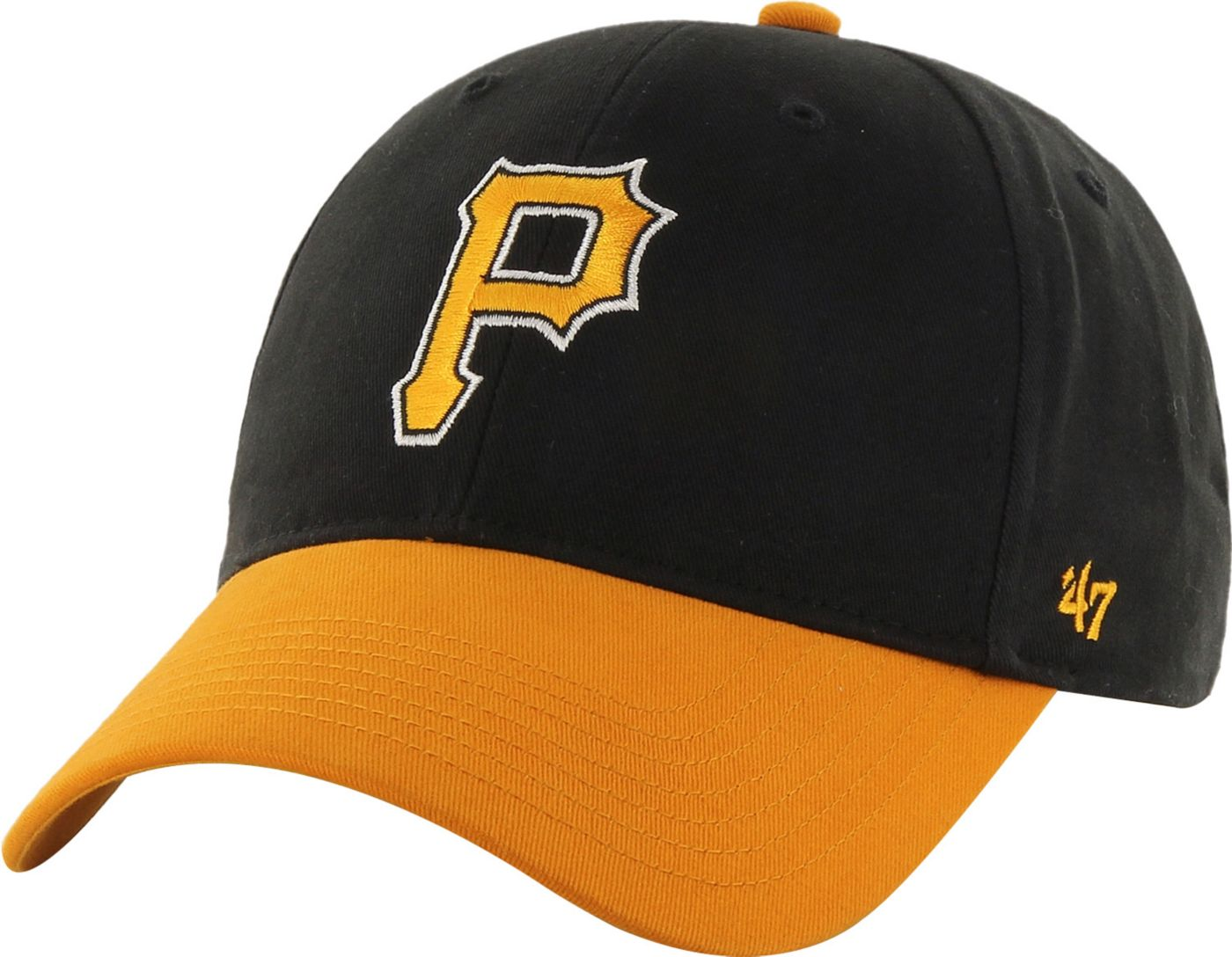 '47 Youth Pittsburgh Pirates Short Stack MVP Black/Gold Adjustable Hat
