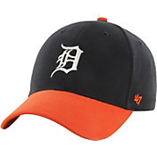 '47 Youth Detroit Tigers Short Stack MVP Navy/Orange Adjustable Hat