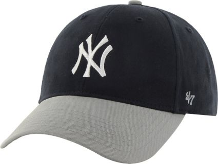 47 Youth New York Yankees Short Stack MVP Navy Grey Adjustable Hat ... 27a86063a