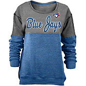 New Era Women's Toronto Blue Jays Grey/Royal Long Sleeve Fleece Pullover