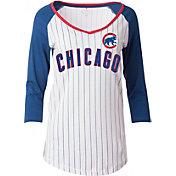 New Era Women's Chicago Cubs Opening Night White/Royal Pinstripe Three-Quarter Shirt