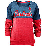 New Era Women's St. Louis Cardinals Navy/Red Long Sleeve Fleece Pullover