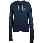 New Era Women's Seattle Mariners Navy Full-Zip Hoodie