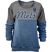 New Era Women's New York Mets Grey/Royal Long Sleeve Fleece Pullover