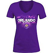 5th and Ocean Women's Orlando City Purple Logo T-Shirt