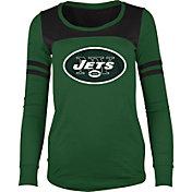 New Era Women's New York Jets Glitter Green Long Sleeve Shirt