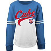 New Era Youth Girls' Chicago Cubs White/Royal Three-Quarter Sleeve Shirt