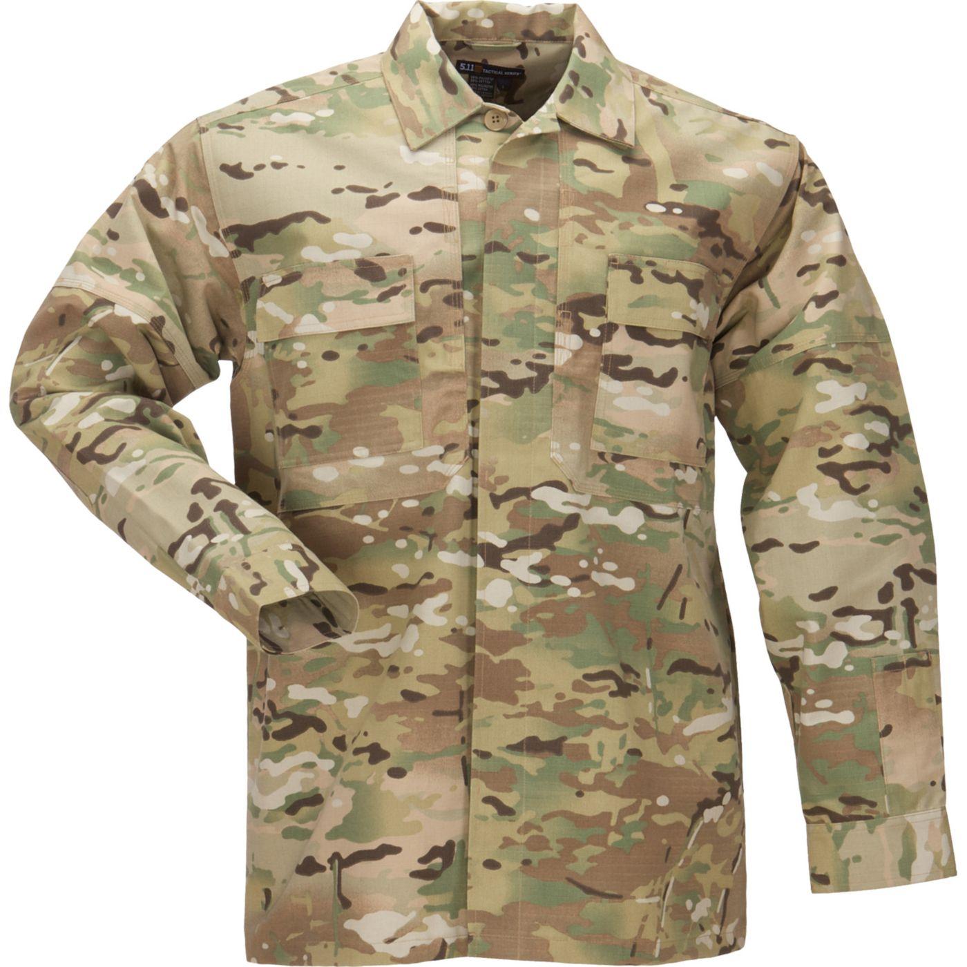 5.11 Tactical Men's Ripstop MultiCam TDU Long Sleeve Shirt
