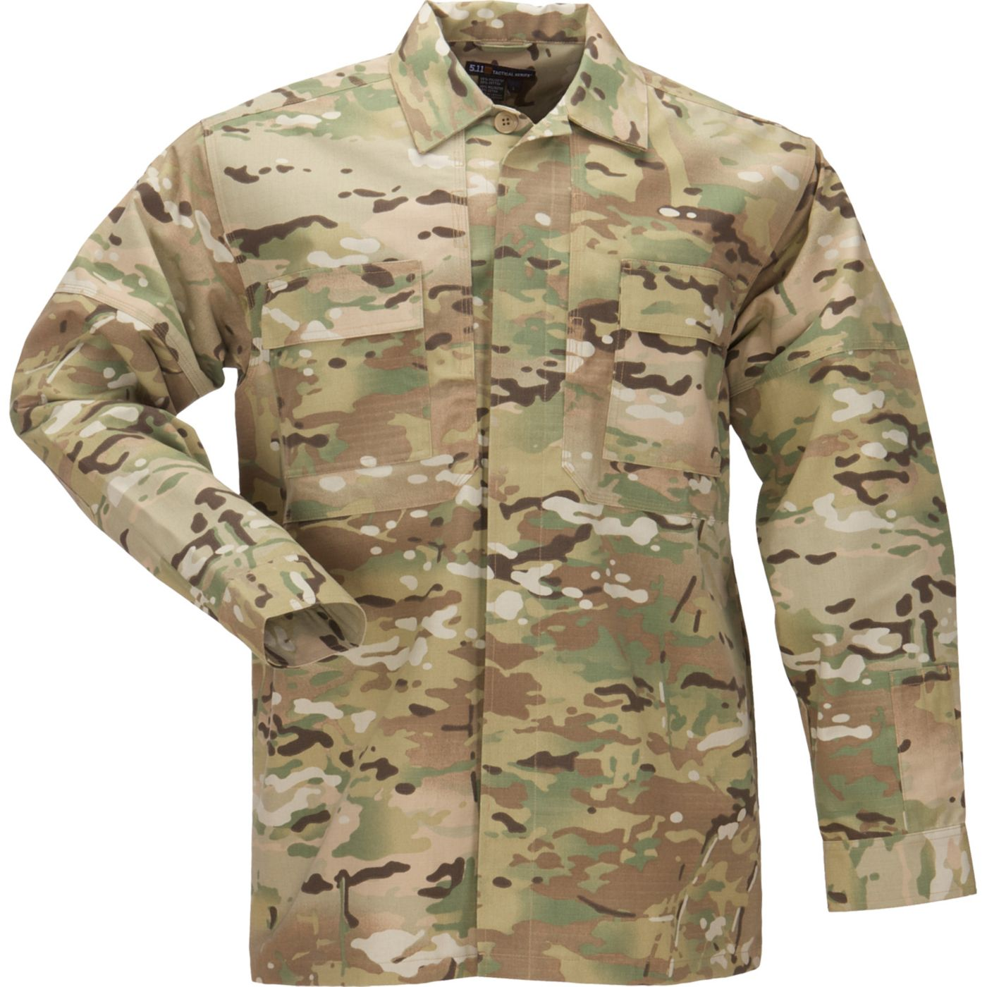 5.11 Tactical Men's Ripstop MultiCam TDU Long Sleeve Shirt - Big & Tall