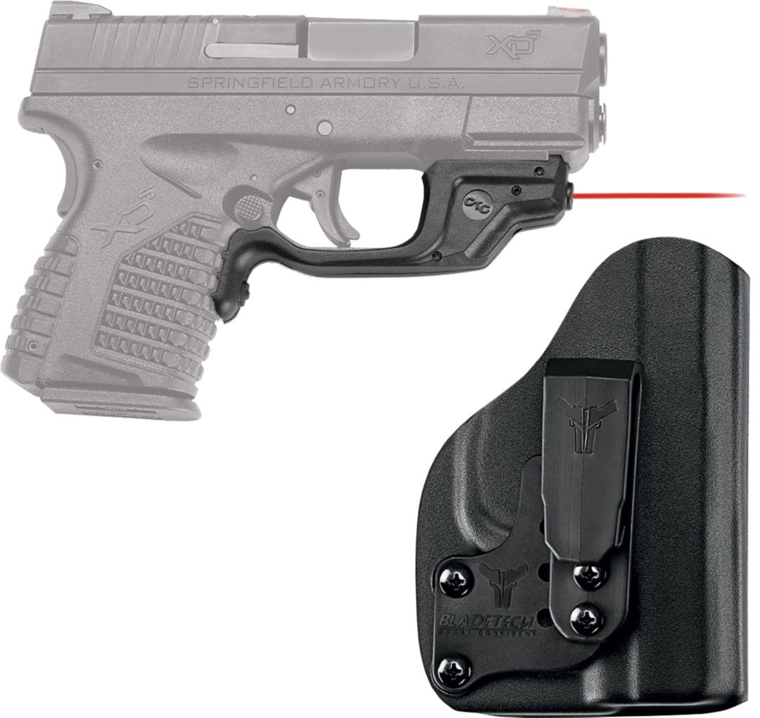 Crimson Trace Red LaserGuard with Blade-Tech IWB Holster – Springfield XDS