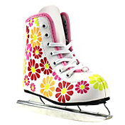 American Athletic Shoe Girls Flower Power Double Runner Ice Skate
