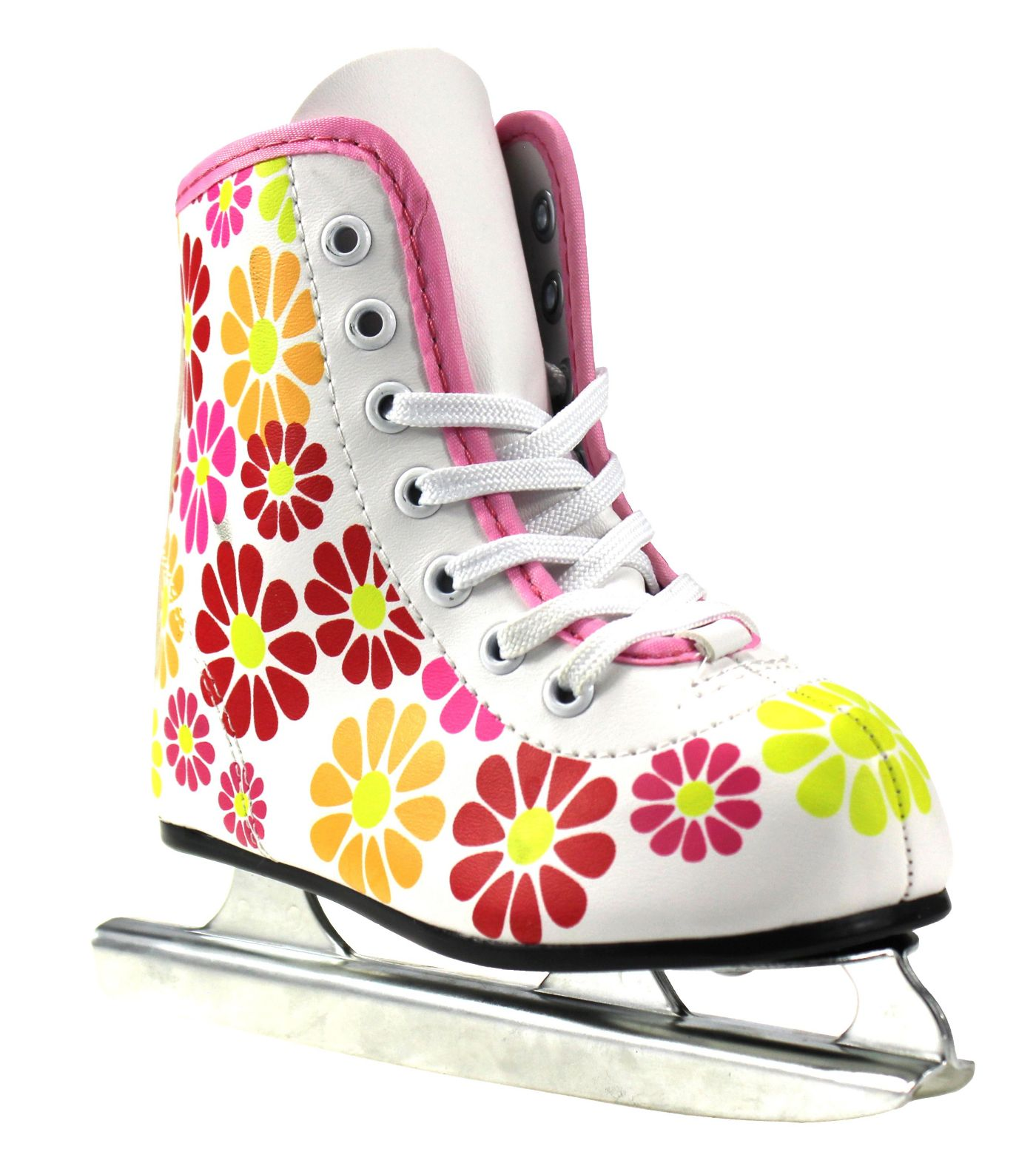 American Athletic Shoe Girls Flower Power Double Runner Ice Skate