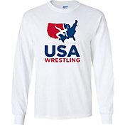 USA Wrestling Adult U.S.A. 2.0 Long Sleeve Wrestling T-Shirt