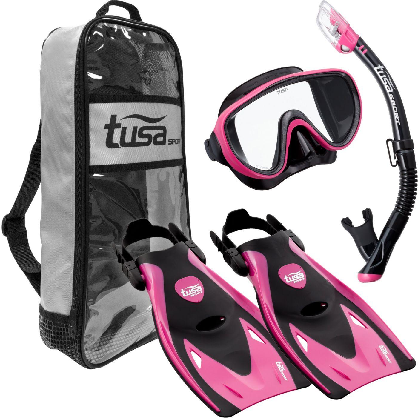 TUSA Sport Adult Serene Black Series Snorkeling Set