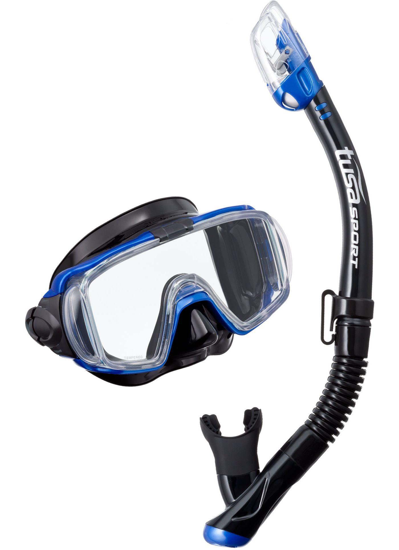TUSA Sport Adult Visio Tri-Ex Black Series Snorkeling Combo