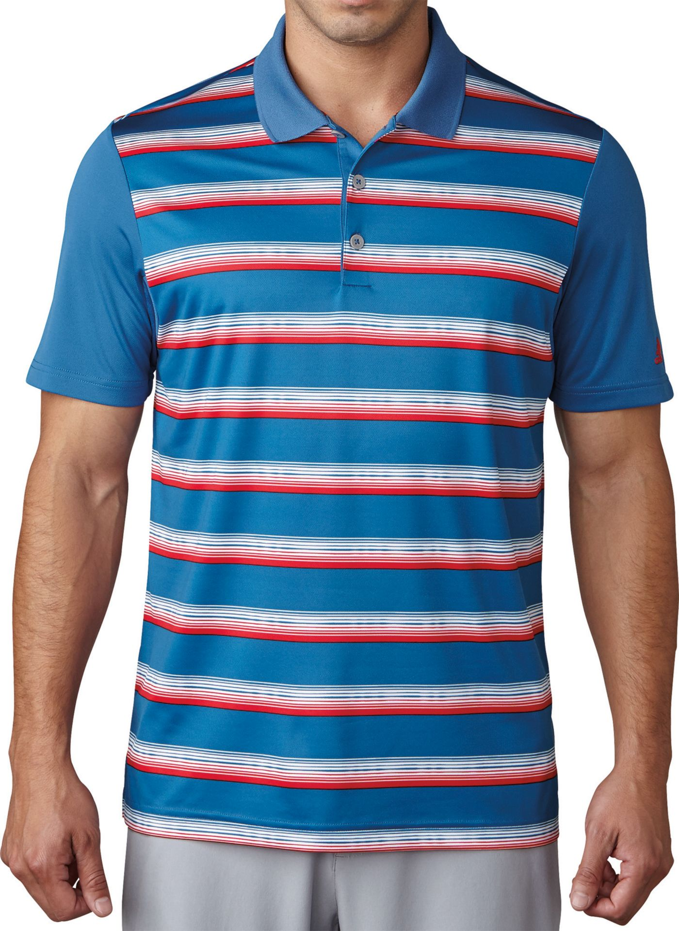 adidas Men's Advantage Stripe Golf Polo