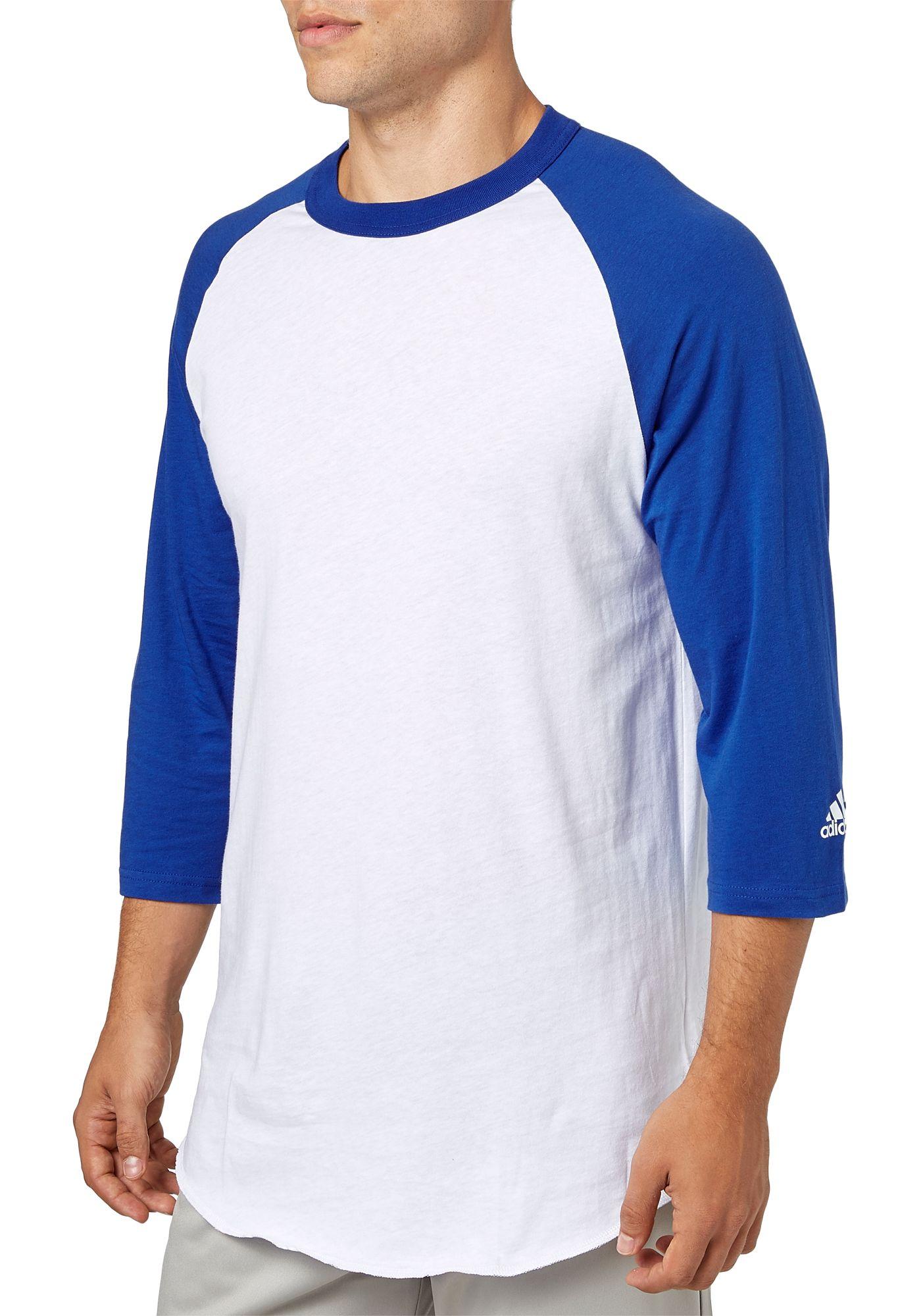 adidas Adult Triple Stripe ¾ Sleeve Baseball Practice Shirt
