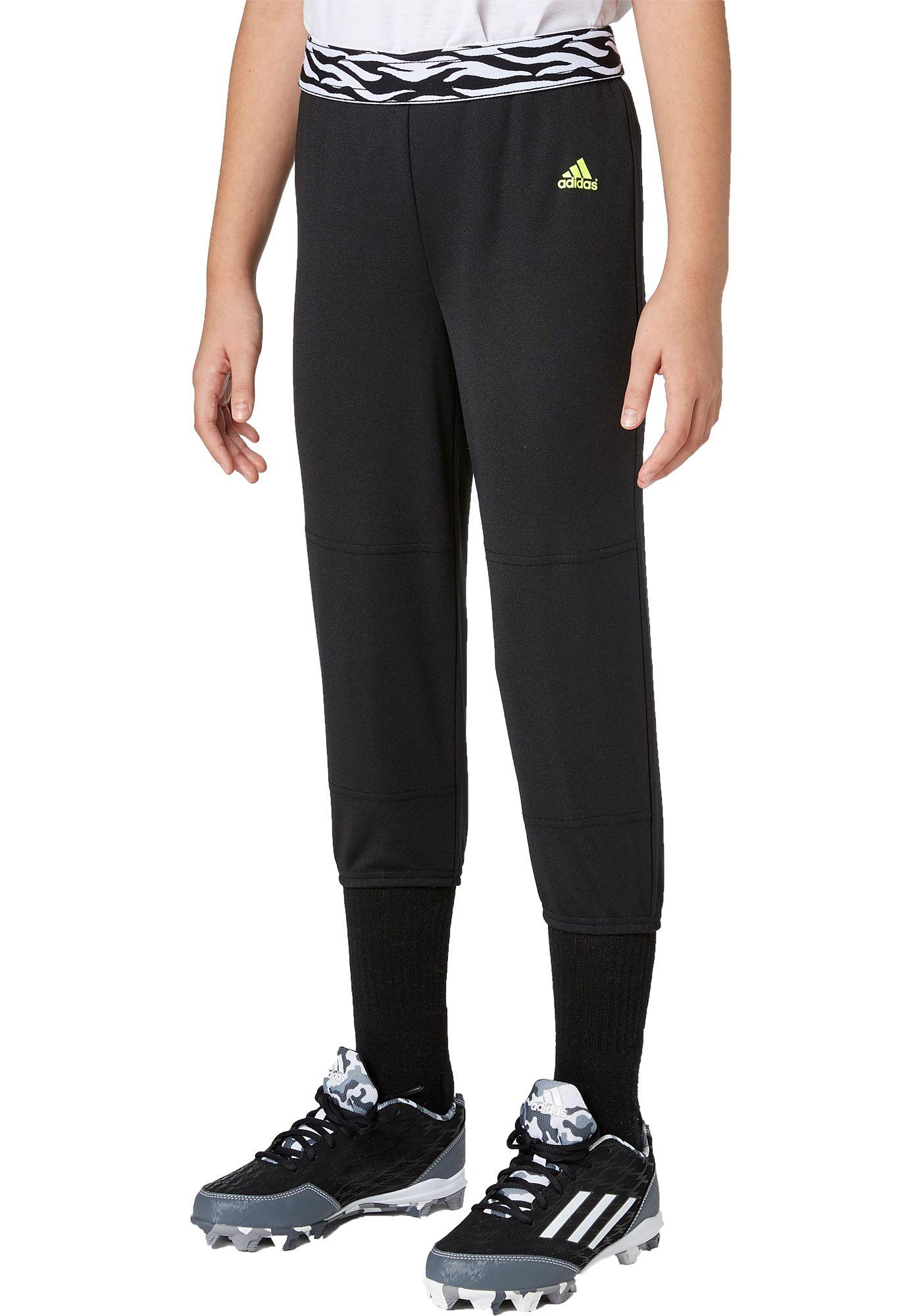 adidas Girls' Destiny Printed Waist Softball Pants