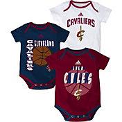 adidas Infant Cleveland Cavaliers 3-Pack Onesie Set