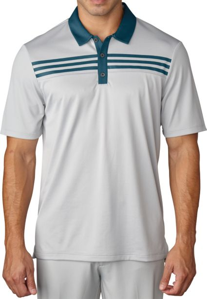 adidas Men's 3-Stripes Textured Polo