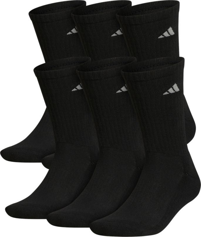 limited guantity outlet for sale undefeated x adidas Men's Athletic Crew Socks - 6 Pack