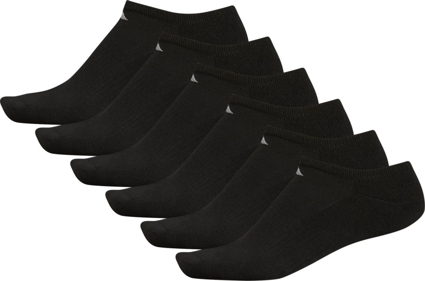 adidas Men's Athletic No Show Socks - 6 Pack