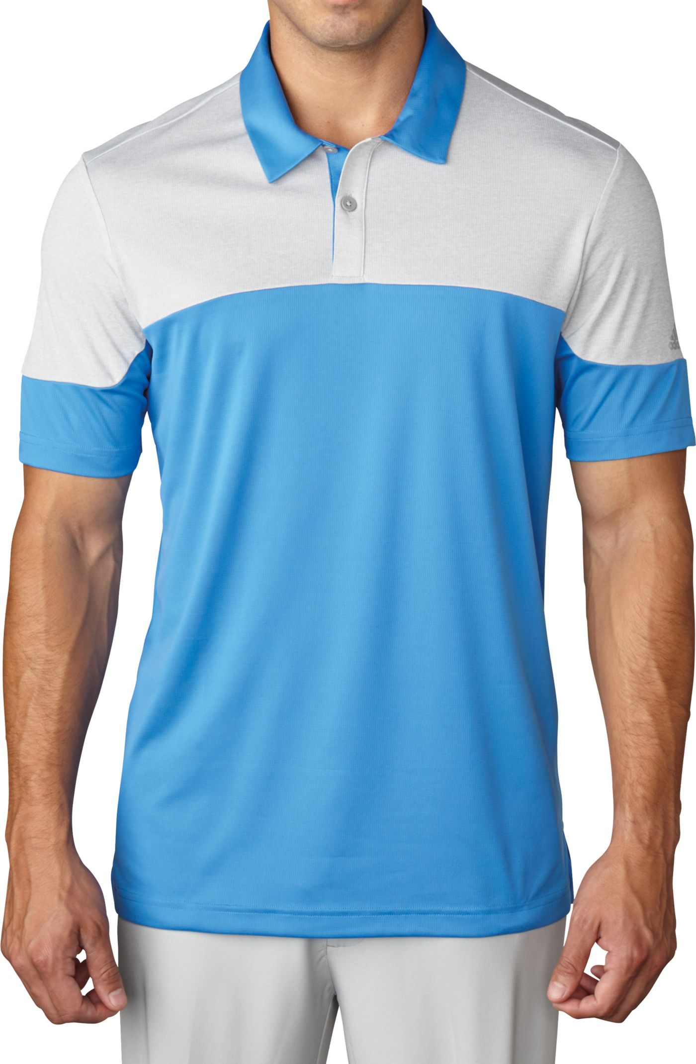 adidas Men's climachill Blocked Golf Polo