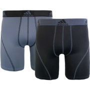 adidas Men's climalite 9'' Boxer Briefs 2 Pack
