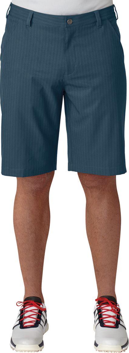 adidas Men's Ultimate Dot Herringbone Golf Shorts