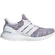 adidas Men's Ultraboost Running Shoes in White/Blue